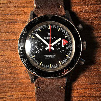 Croton Chronomaster Aviator Sea Diver with Landeron 248 *PIC*