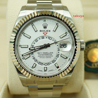 FSOT:BNIB Rolex 326934 SKY-DWELLER STAINLESS STEEL WHITE DIAL 2021 COMPLETE SET