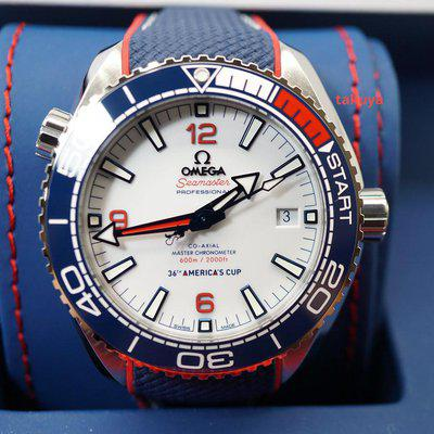FSOT:MINT Omega SEAMASTER PLANET OCEAN AMERICA's CUP LIMITED EDITION 2020 FULL SET