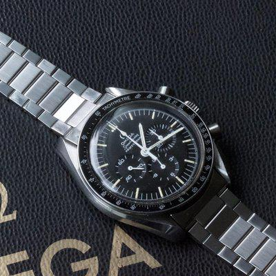Get the original Speedmaster flat-link band look at low cost