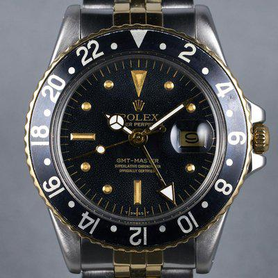 FS: 1979 Rolex Two Tone GMT Ref: 1675 Black Nipple Dial