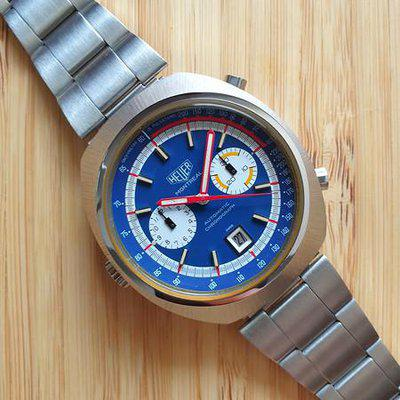 Heuer Montreal 110.503B Blue Dial Cal.12 *PIC*