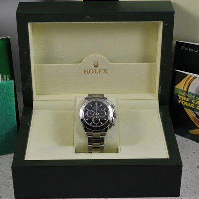 FS: Rolex Daytona 116520 Black Dial Stainless Steel - F Serial - Box and Papers - VG!