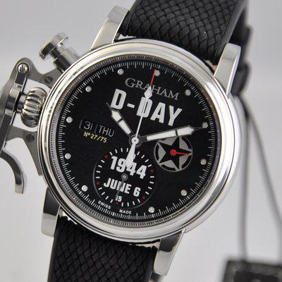 FS: Graham Chronofighter Vintage D-Day 1944 LIMITED Black 2CVAS.B30A Automatic Rubber