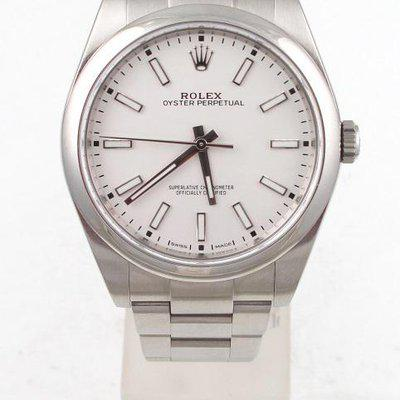 FS:Rolex Stainless Oyster Perpetual 39MM With White Dial And Oyster Band Model#114300