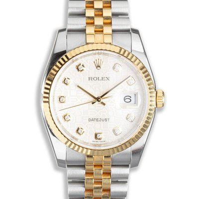 2011 Rolex Two-Tone DateJust 116233 Diamond Jubilee Dial with Box & Card  Serial #: R