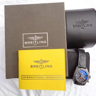 BREITLING AVENGER SKYLAND BLACK STEEL LIMITED EDITION 45MM - M133802