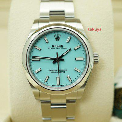 FSOT:BNIB Rolex 277200 OYSTER PERPETUAL 31MM TIFFANY TURQUOISE DIAL 2021 COMPLETE SET