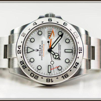 FSOT: Rolex 216570 EXPLORER II WHITE Polar Dial 42mm Mar 2019 Full Set DISCONTINUED