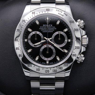FSOT: Rolex Daytona - 116520 - Black Dial - Stainless Steel - Complete - 2012