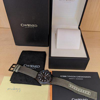 FS: Christopher Ward C1000 Typhoon Automatic Chronograph - full ceramic