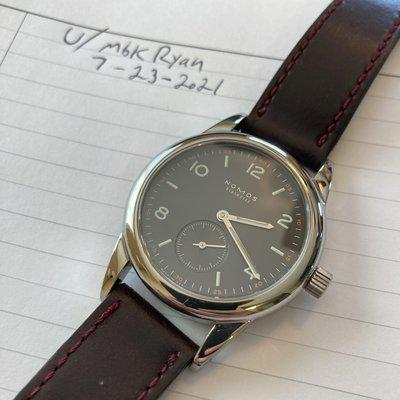 [WTS] Nomos 36mm Club Dunkel. $975. Not looking for trades.