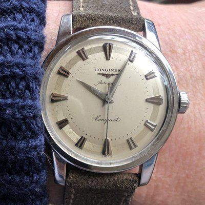 FS - Vintage Longines Conquest 9000, Stainless, c. 1954