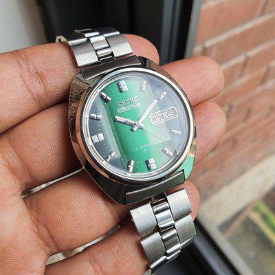 [WTS] 1974 Green Emerald Faceted Crystal Seiko Actus SERVICED JDM Rare Watch