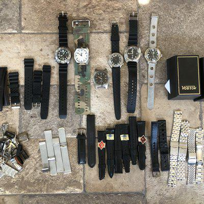 Vostok diver and a bunch of parts