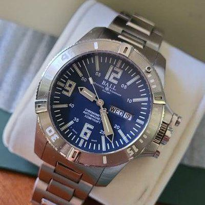 FSOT: Ball Engineer Hydrocarbon Spacemaster (DM2036A-PCA-BE) Watch - Blue Dial, Stainless Steel Bracelet, Box/Etc - $1,275