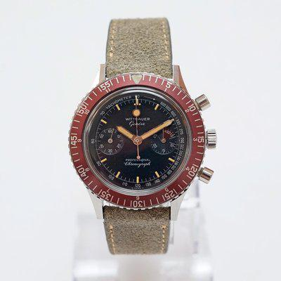 FS Wittnauer 7004A Professional Chronograph Red Bezel - Fully Serviced