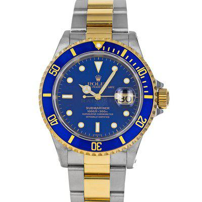 Rolex 16613 Submariner A Blue Dial Steel 18K Yellow Gold