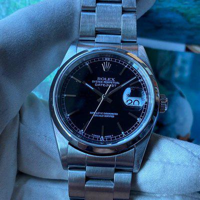 FS:Rolex Oyster Perpetual Datejust 16200 Black Dial 36mm