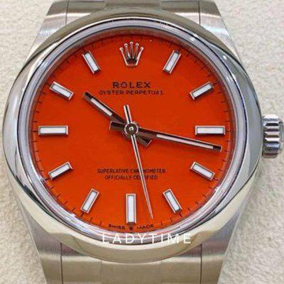 FS: New Rolex 277200 Oyster Perpetual 31 mm Coral Red Dial Full Set
