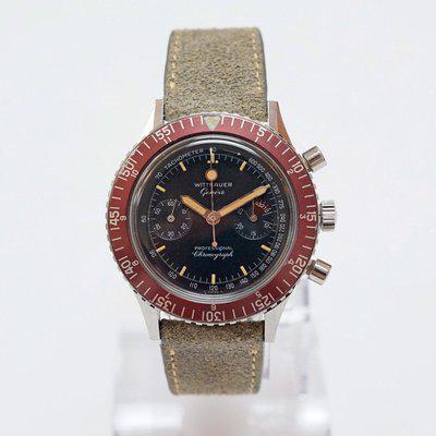 FS - Wittnauer 7004A Professional Chronograph Red Bezel - Fully Serviced