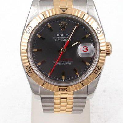 FS:Rolex Two Tone Datejust Turn-O-Graph 36MM With Grey Dial Jubilee Band Model#116263