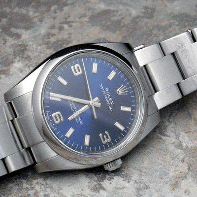 FS. Rolex Oyster Perpetual 34mm Blue Dial Ref. 114200