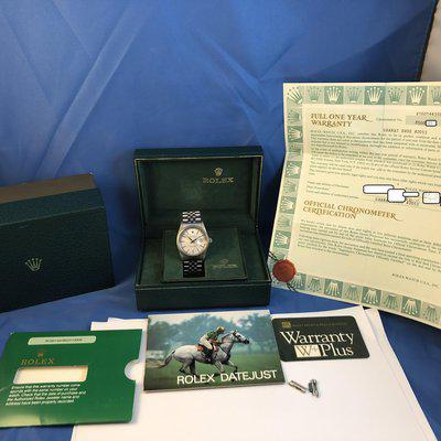 FS: Rolex Datejust 16014, Steel White Gold, Tapestry Dial, Jubilee Bracelet, Boxes and Papers. 8.500.xxx Serial 1986
