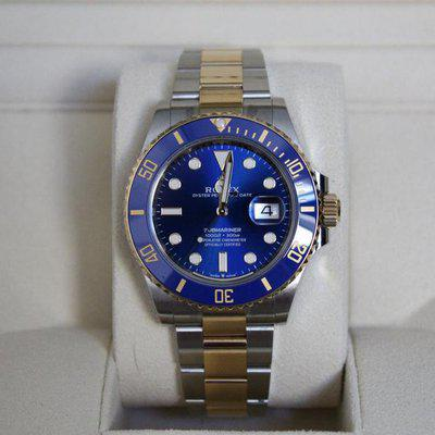 FSOT: Excellent Rolex 126613LB Submariner Bluesy 41mm - Stickers, New Style Card!