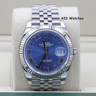 FSOT: Rolex Datejust 41MM 126334 Blue Roman Dial Jubilee Box & Papers