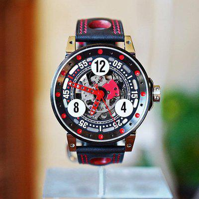 FS BRM V6-44 SPORT AUTOMATIC SKELETON BLACK & RED