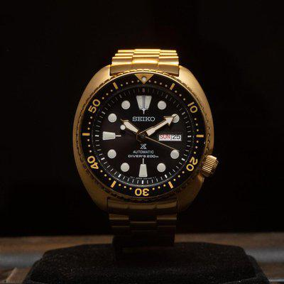 [WTS] Seiko SRPC44 Gold Turtle w/ strap code, rubber, and leather strap