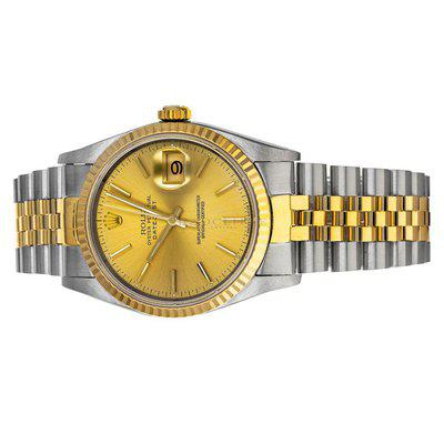 FS- Rolex Datejust 16233 S Champagne Dial Box Service Papers