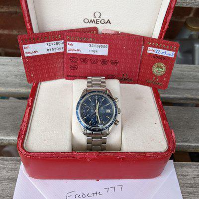 [WTS] Omega Speedmaster Blue dial, TRIPLE CARDS and box