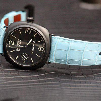 FS : Baby Blue OTT Alligator for Radiomir Ceramic 45mm Black Seal