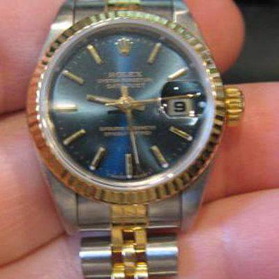 Fs: Rolex blue dial ladies datejust 69173