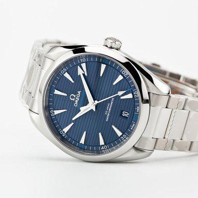 fsot - Omega Aqua Terra 8900 - Blue / Bracelet - 220.10.41.21.03.001 ( new / 2020 )