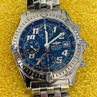FS Breitling Chronomat A13050.1 Blue Dial Fully Serviced By Breitling REDUCED FOR WEEKEND SALE