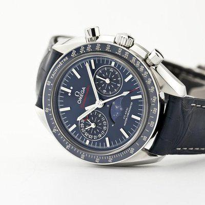 fsot - Omega Speedmaster - Blue Moonphase - 44.25mm - Master Co-Axial ( excellent )