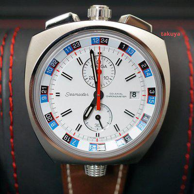 FSOT:LIMITED EDITION Omega SEAMASTER BULLHEAD CHRONOGRAPH WHITE DIAL FULL SET