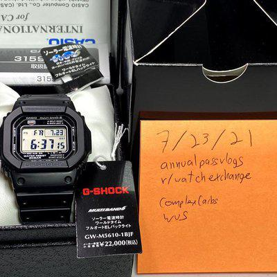 [WTS] Casio G-Shock GW-M5610-1BJF Positive Display MOD Complete with JDM box/tags Like New