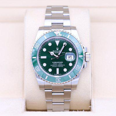FSOT: Rolex Submariner Date 116610LV Hulk Green – Box & Papers!