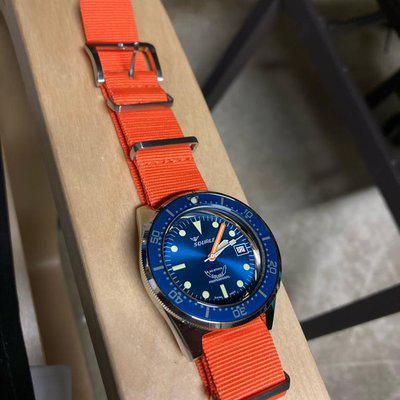 FS Only - Squale 50 Atmos Blue Polished - $695 in USA