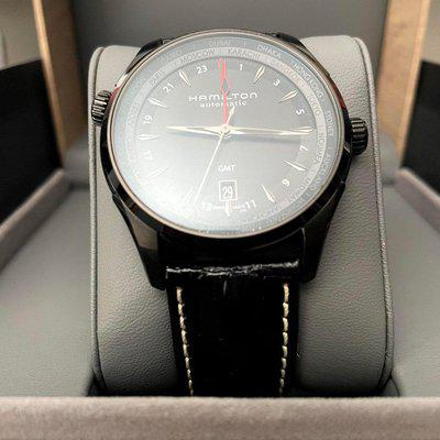[WTS] REPOST & PRICE REDUCTION - Jazzmaster GMT Full Black Limited Edition - Discontinued - 42mm Ref H32685731