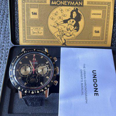 [wts] Undone Monopoly Moneyman Chronograph The Godfather Gold Black Limited Edition #277 /500