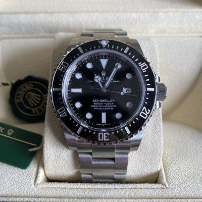 WTS Brand New Rolex Sea-Dweller 4000 Ceramic 116600 OPEN CARD COMPLETE FULLY STICKERED