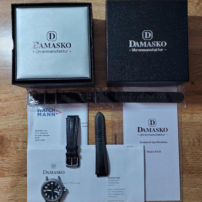 [WTS] Damasko DA36, just serviced, with original box & papers