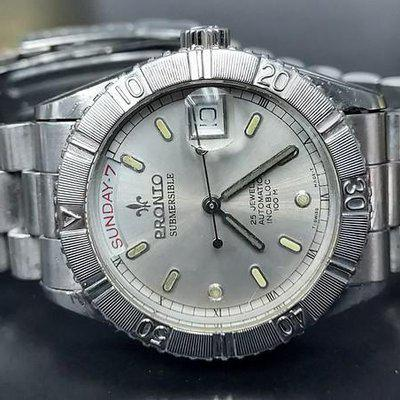 FS: Rare Vintage Pronto Submersible Diver Date & Day Auto Turn O Graph Org bracelet Reduced