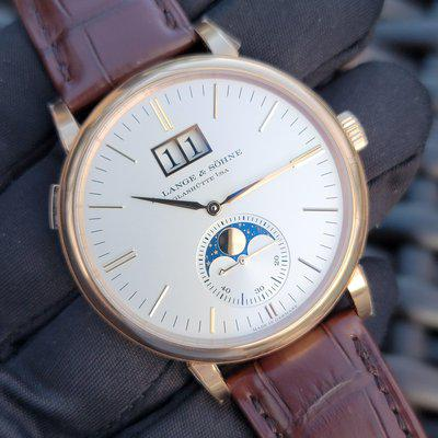 Fsot:2021 a. Lange & sohne saxonia moon phase 40mm rose gold silver full set