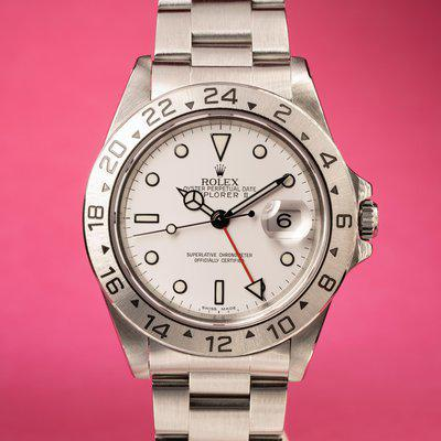 FS: 1995 Rolex Explorer II 16570 White Dial with Service Papers